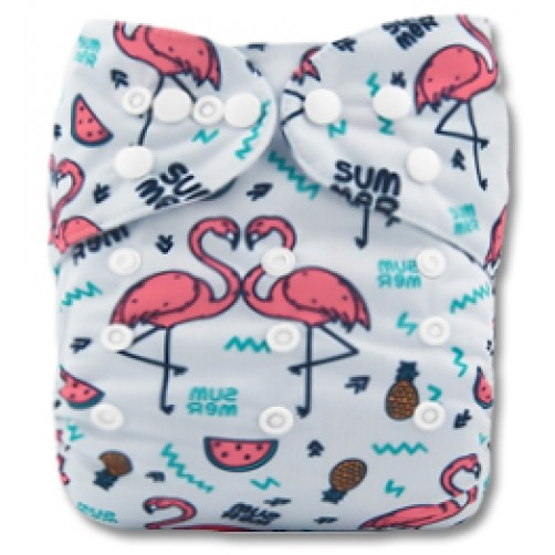 C055 Summer Flamingos Position Print