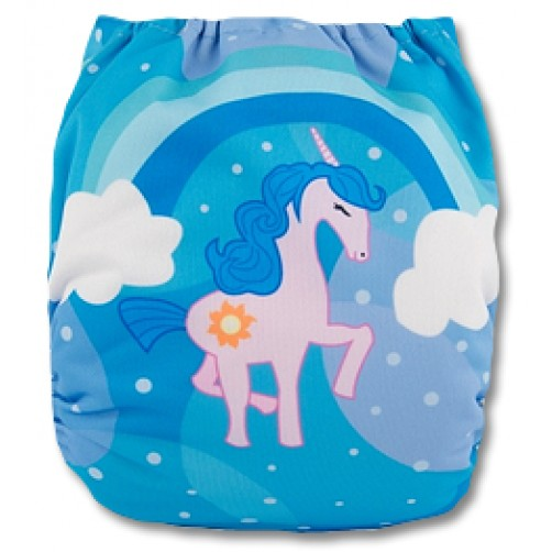 C064 Light Pink Unicorn Position Print