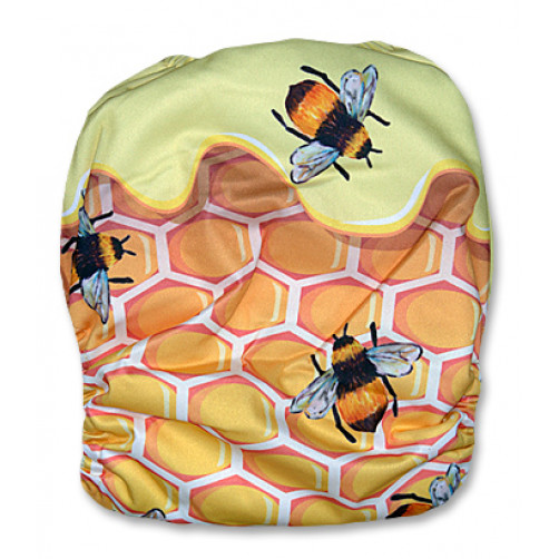 C086 Honey Comb with Honey Bees Position Print