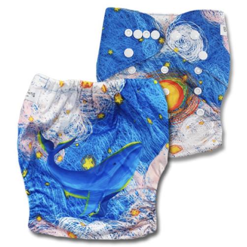 C121 Blue Whale Stars Position Print