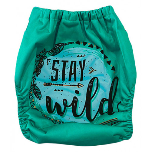 C123 Green Stay Wild Position Print