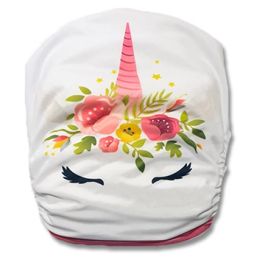 C107 Pink Stripe Unicorn Position Pocket