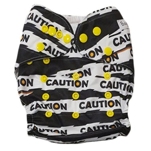 C111 Black White Caution Under Construction Position Pocket