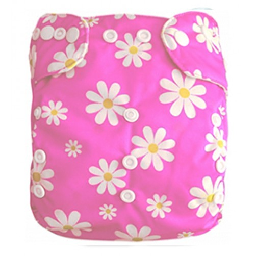 B013 Pink with White Daisies