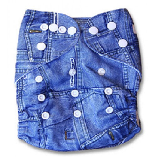 B019 Denim Jeans Print