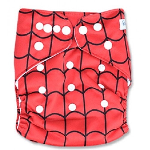 B023 Red Spiderman Web
