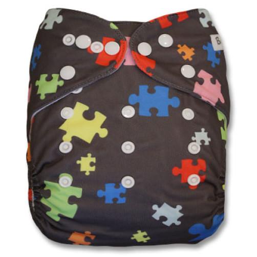B032 Dark Grey with Puzzle Pieces