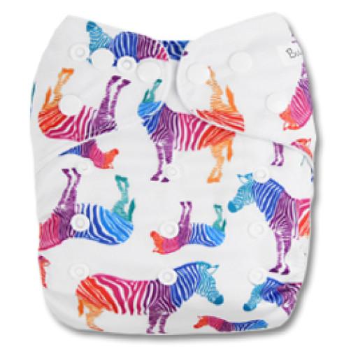 B042 White MultiColor Zebras