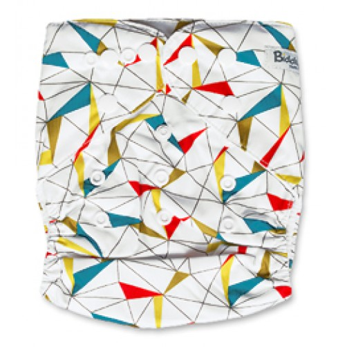 B051 Gold Red Turquoise Triangles