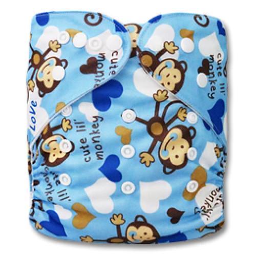 B086 Cute Blue Monkeys