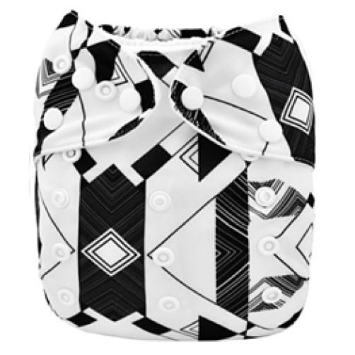 B099 Black & White Geometric Print