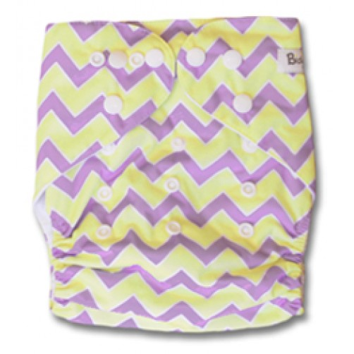 B101 Yellow & Purple Chevron