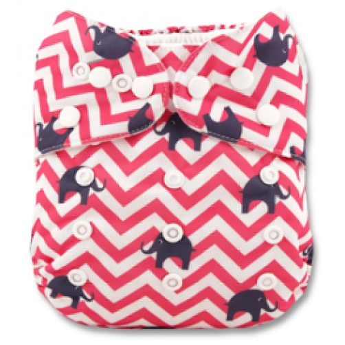 B102 Pink Chevron with Ellies