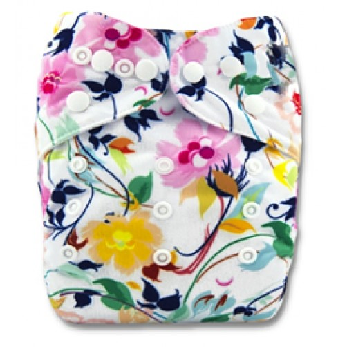 B107 Yellow Pink Navy Floral