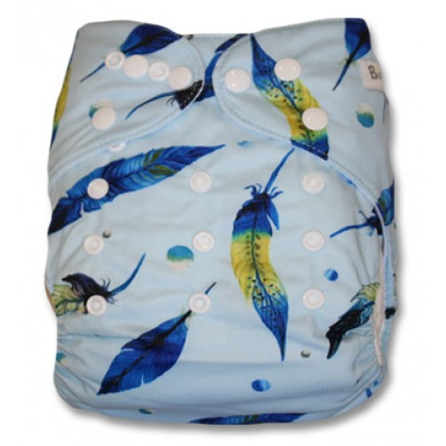 B130 Blue with Blue & Yellow Feathers