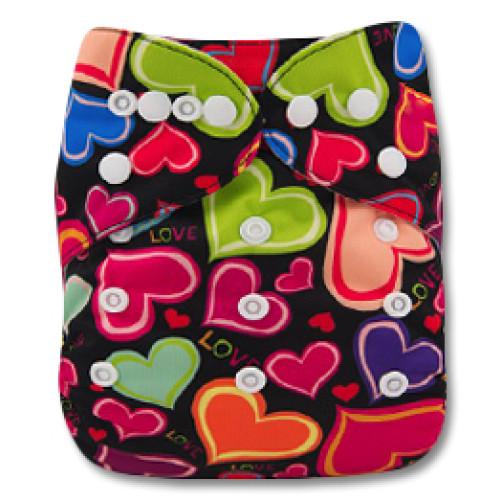 B109 Multicoloured Hearts