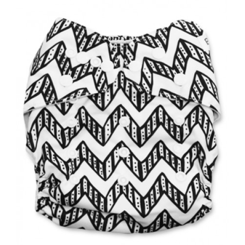 B153 Black & White ZigZag