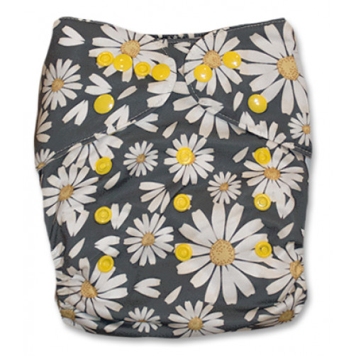 PC058 Dark Grey Daisies PUL Cover