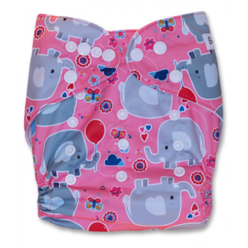 PC043 Pink Balloon Ellies PUL Cover