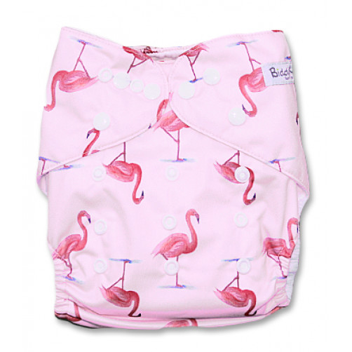 PC045 Pink with Pink Flamingos PUL Cover