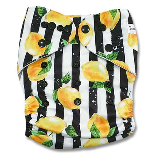 B293 Black Stripe Lemons Pocket