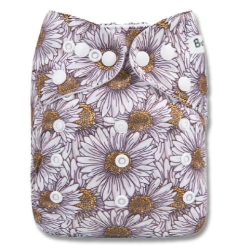 B273 White Daisy Sketch Pocket