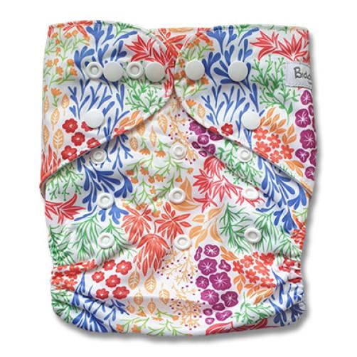 B278 Blue Orange Rd Floral Pocket