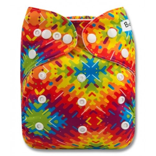 B289 Geometric Tie-dye Pocket