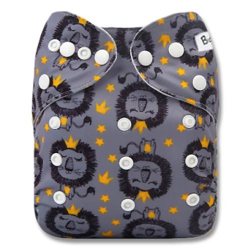 B288 Grey Lion Yellow Crowns Pocket