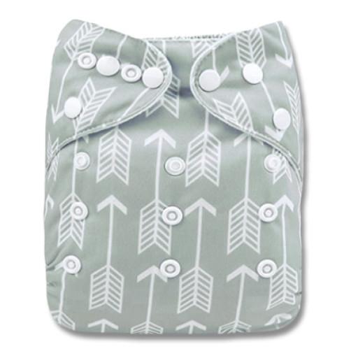 B295 Grey White Arrows Pocket