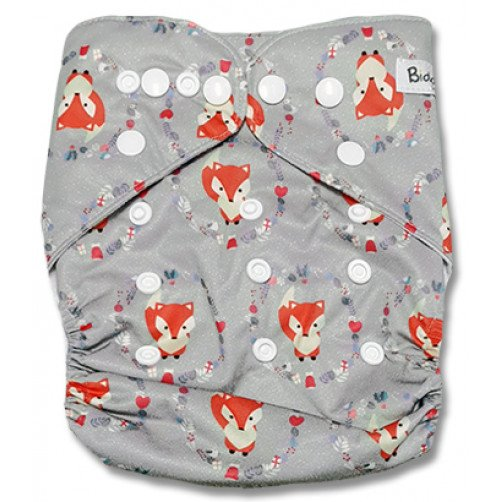 B257 Grey Fox Circles Pocket