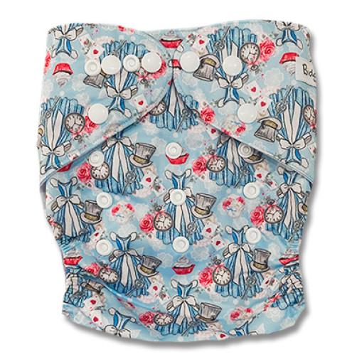 B336 Alice's Blue Dress Pocket