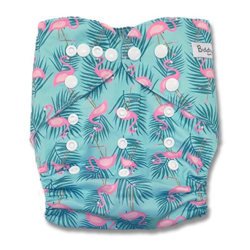 B308 Aqua Pink Flamingos Pocket