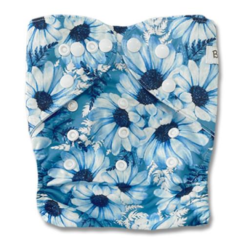 B324 Large Blue Floral Pocket
