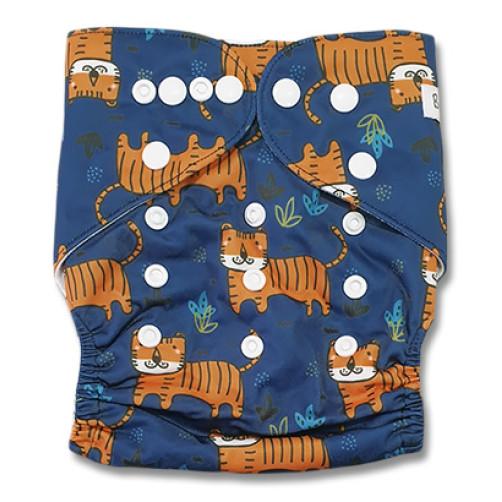 B327 Navy Orange Tigers Pocket
