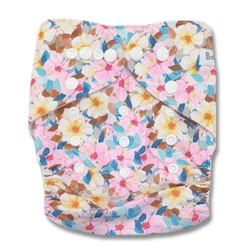 B305 Pink Yellow Blue Hibiscus Pocket
