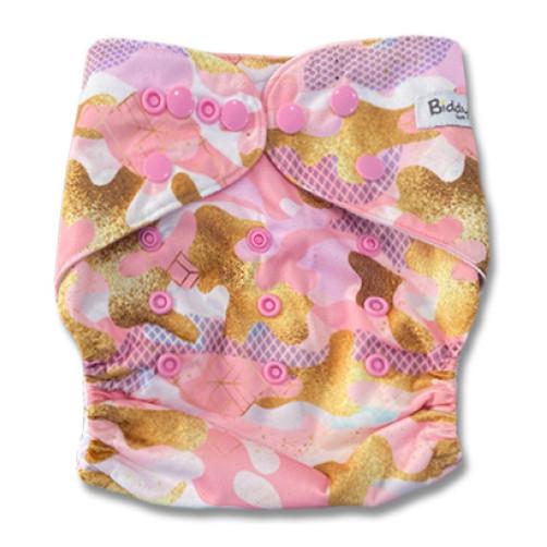 B322 Pink Yellow Gold Pattern Pocket