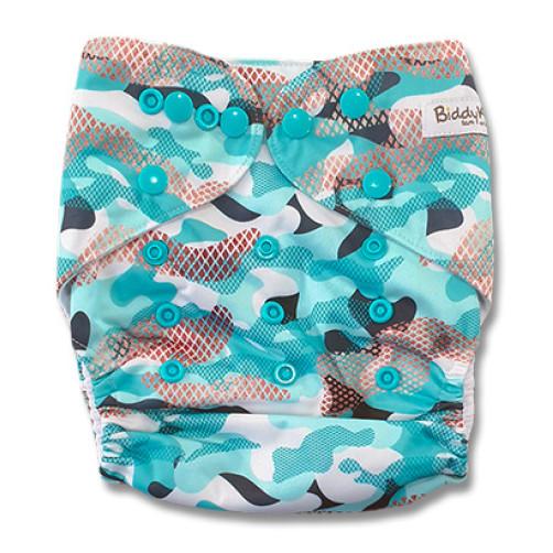 B326 Turquoise Black Brown Pattern Pocket