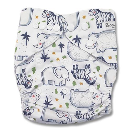 B314 White Hippo Zebra Ellies Pocket