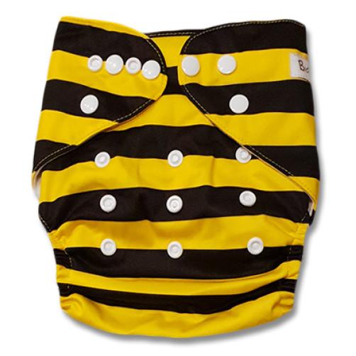 B226 Black Yellow Stripe Bumblebee Pocket
