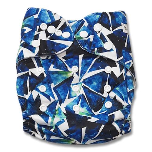 B199 Blue Black Prisms Pocket