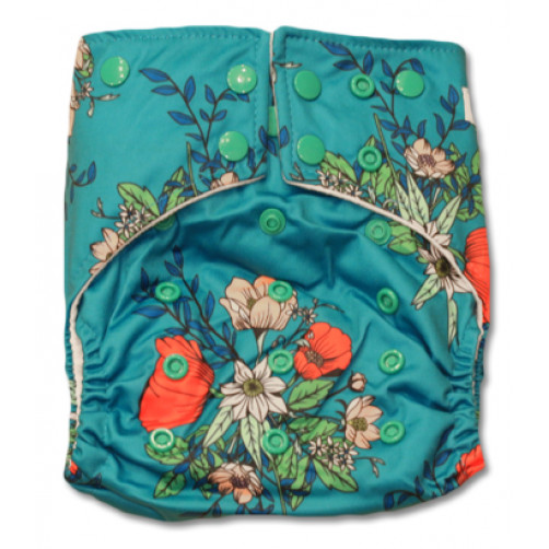 G022 Turquoise Floral Sleeve