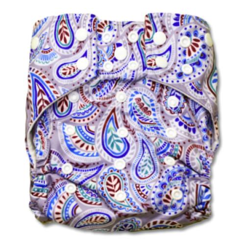 G023 Blue Paisley Sleeve