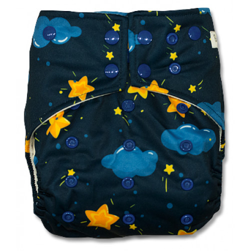 G025 Blue Clouds Yellow Stars Sleeve