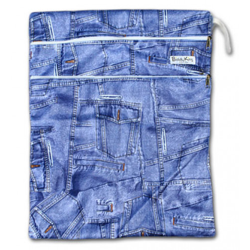 W007 Jeans Print Smooth Wet Bag