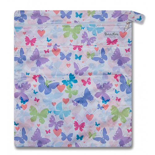 W013 Pastel Butterflies Wet Bag