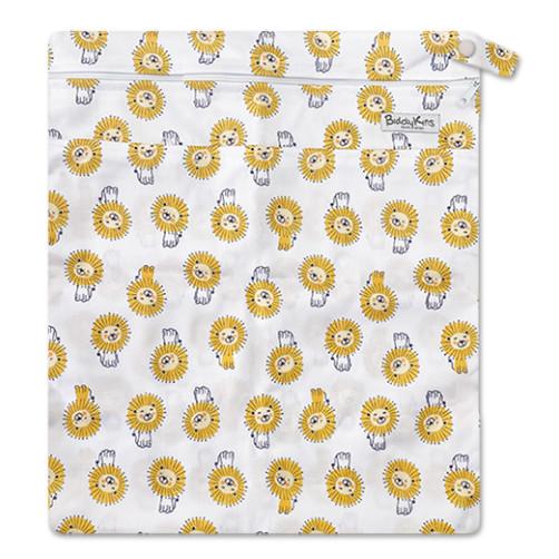 W047 White Yellow Lions Wet Bag