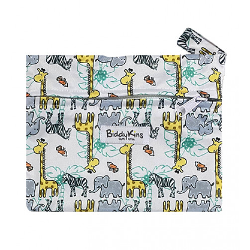 WS028 Zebras Ellies Giraffe Small Wet Bag