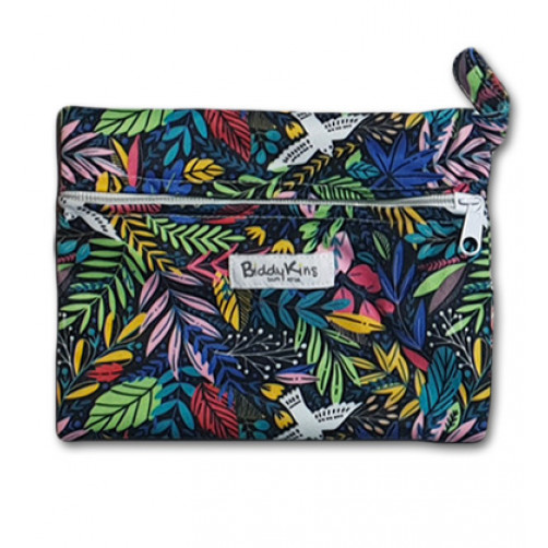 WS025 Dark Neon Floral Small Wet Bag