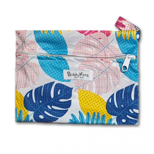 WS020 Large Multicolor Leaf Small Wet Bag
